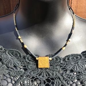 Jewelry - Artisan handcrafted necklace black and gold